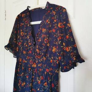 Madewell Printed chiffon dress